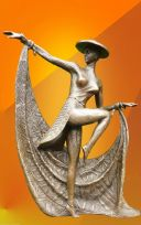 ART DECO, DANCER OF THE ORIENT, SIGNED Chiparus BRONZE FIGURINE